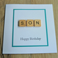 son card, happy birthday