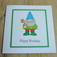 gnome card, happy birthday