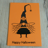 happy halloween postcard canvas
