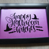 Happy Halloween witches frame