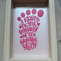baby foot print frame