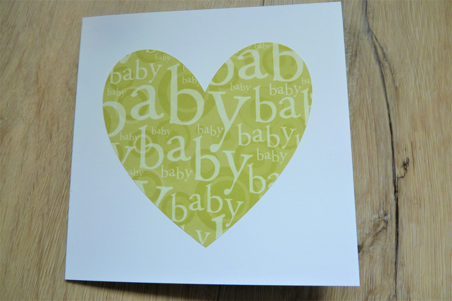 new baby heart card