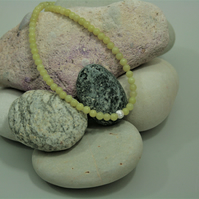 Pretty Lemon Jasper Necklace with Sterling Silver