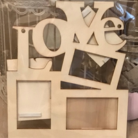 LOVE photo frame - Plywood