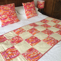 Handmade patchwork bed runner