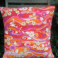 Handmade vintage fabric cushion cover