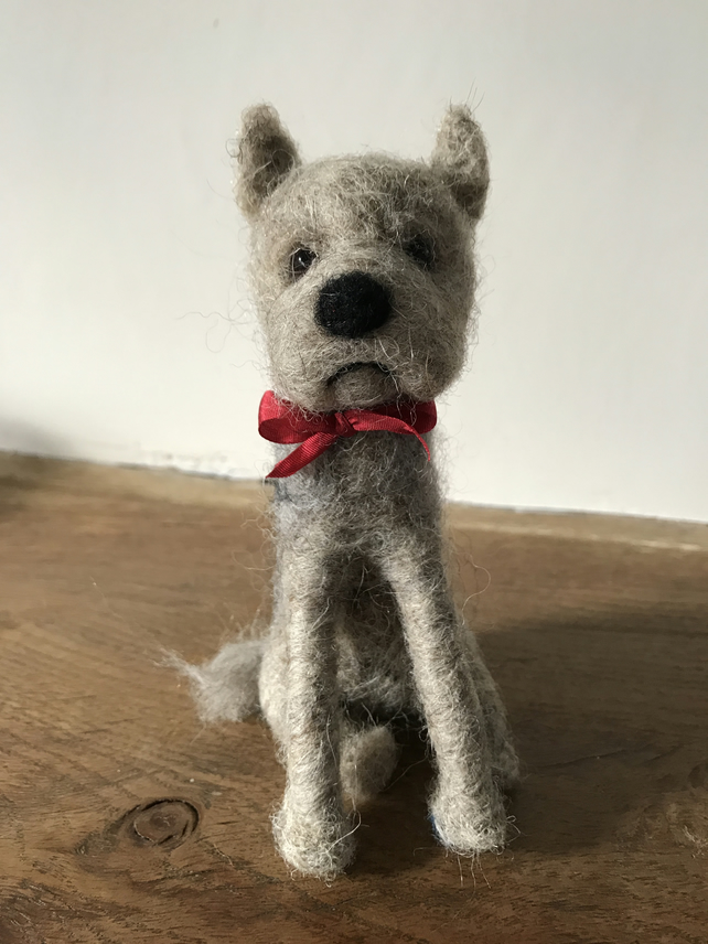 Terrier needle felted