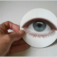 Big eye sticker, 9.5 cm diameter