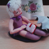 Diana in polymer clay