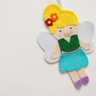 Rainbow fairy decoration