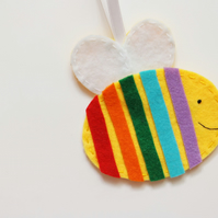 Rainbow bee decoration