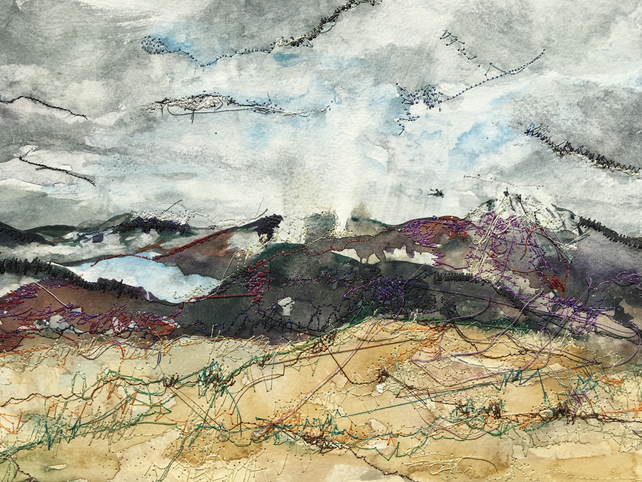 The stormy hills of Dumfries - 10 x 8 Giclee print