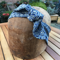 Frankenbands hairband - blue pattern