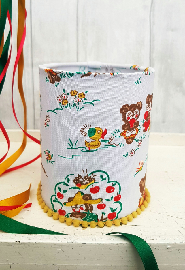 Adorable Vintage Style Hand Made Nursery & Children's Night Light - Happy Bears