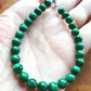 Malachite bead bracelet - natural mineral semi-precious beads.