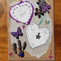 Just for You Card - love, lavender, purple.