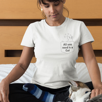 'All you need is a Cat' Sustainable Organic Tshirt