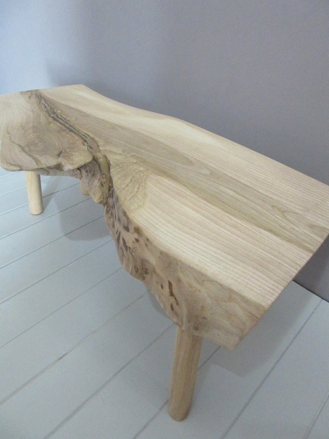 Live Edge Coffee Table Solid Ash Folksy