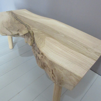 Live Edge Coffee Table - Solid Ash