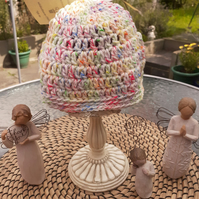 Multicoloured Speckled Crochet Baby Hat
