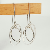 Sterling Silver Double Hoop Earrings. (Free UK Delivery)