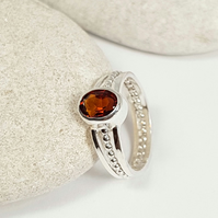 Sterling Silver Madeira Citrine Ring  (Free UK Delivery)