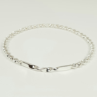 Sterling Silver Double Twist Bangle Bracelet   (Free UK Delivery)
