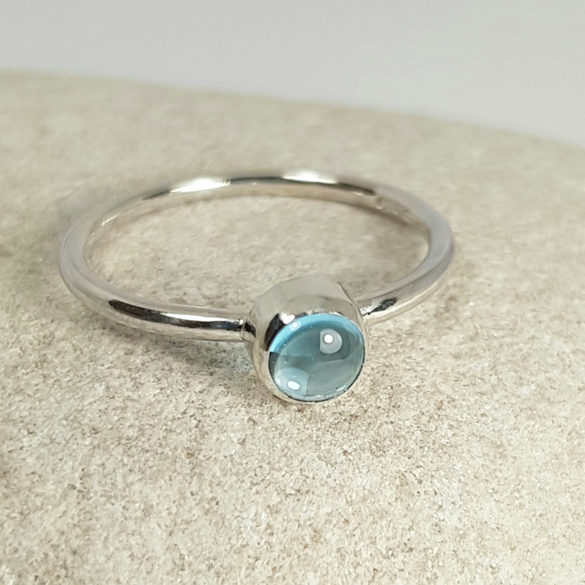 Sterling Silver And Topaz Ring  (Free UK Delivery)