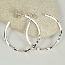 Sterling Silver Hoop Earrings - Twisted