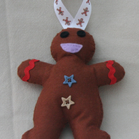 Festive Felt Gingerbread Man Hanging Christmas Tree Decoration