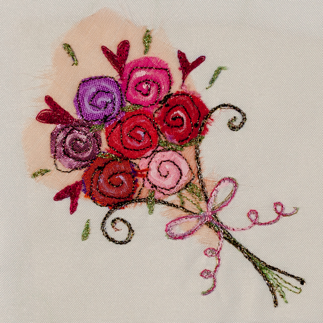 Rose Bouquet greetings card