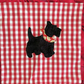 black scottie dog cushion cover applique