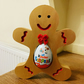 Gingerbread Man Kinder Egg Holder