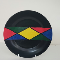 Decorative Plate Hand painted Ndebele Zulu