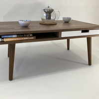 Coffee Table, solid walnut, mid century, retro, oak, Scandinavian design