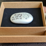 Engraved Pet Memory Stone