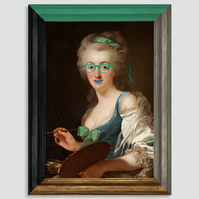 GRACIOUS IN GREEN Canvas Print