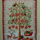 Advent Calendar. Quilted Reindeer and Tree Advent Calendar.