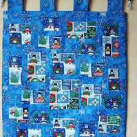 Advent Calendar. Snowman design Advent Calendar.