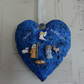 Christmas Decoration. Handmade Heart With Nativity Buttons.