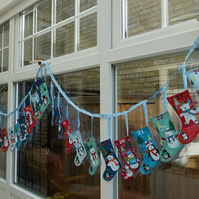 Advent Calendar. Stocking bunting style advent calendar.