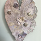 Steampunk Hanging Mixed Media Heart