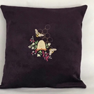 Bee & Hive Embroidered Cushion Cover
