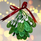 Embroidered Mistletoe