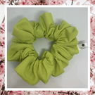 Lady Sarah large pistachio green cotton hair scrunchies