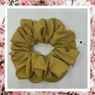 Lady Sarah large gold cotton hair scrunchies