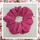 Lady Sarah large hot pink cotton hair scrunchies