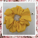 Lady Sarah large bright yellow cotton hair scrunchies