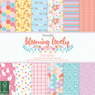 "Dovecraft 'Blooming Lovely' 12"" x 12"" FSC Paper Pack FULL PACK"