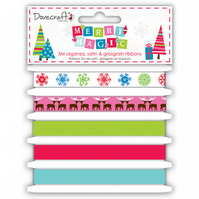 Dovecraft 'Merry Magic' Ribbon Pack